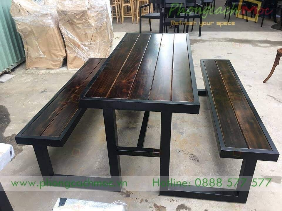 Bàn ghế cafe khung sắt MN219-2