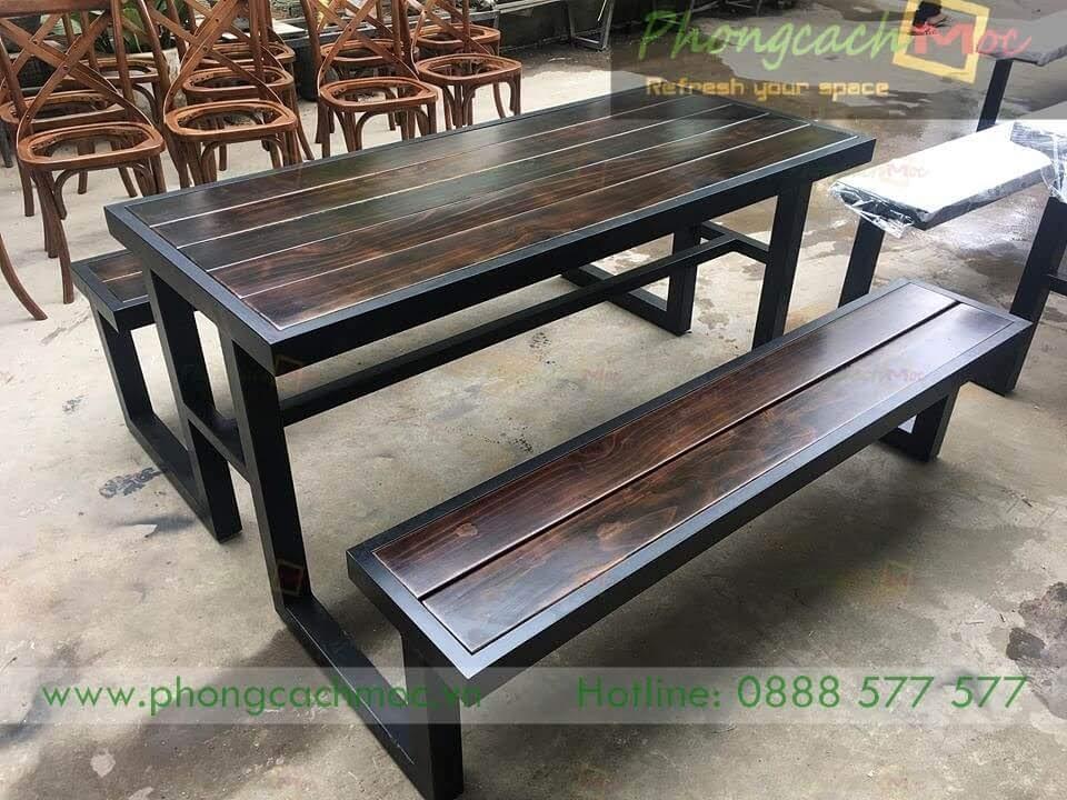 Bộ bàn ghế cafe khung sắt MN219-3