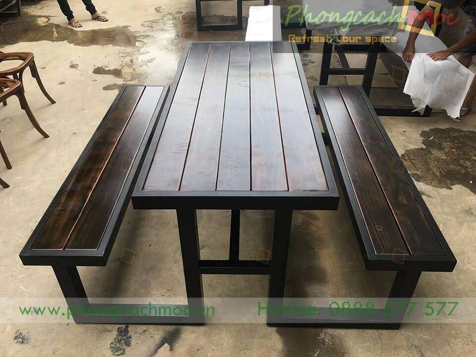 Bàn ghế cafe khung sắt MN219-1